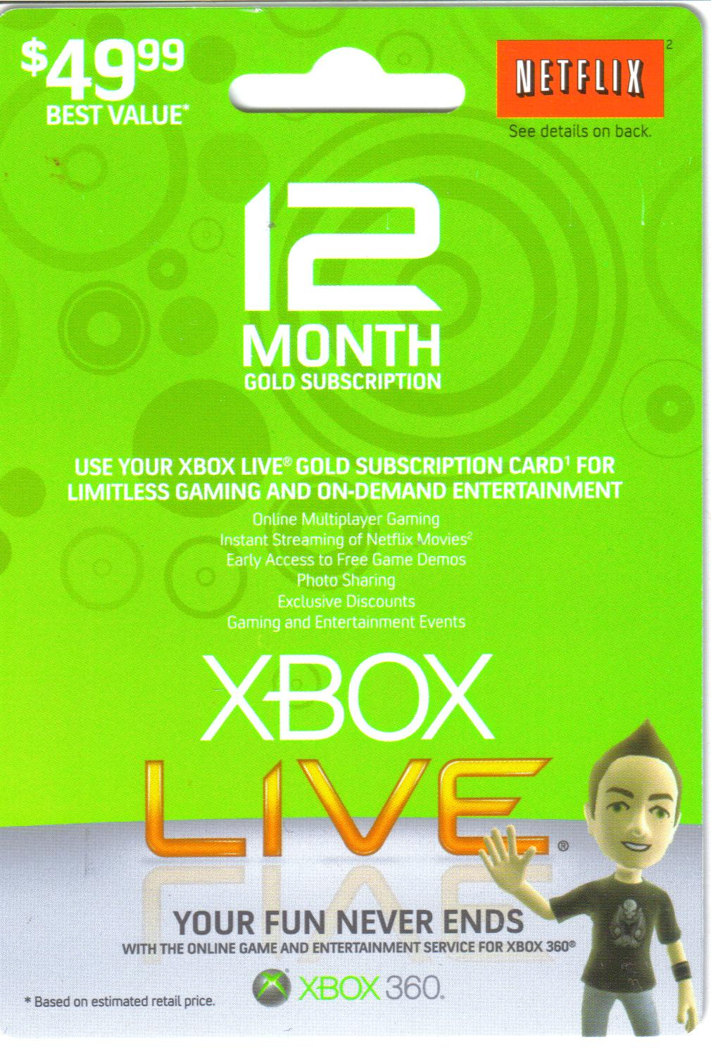 free xbox live cards unused band